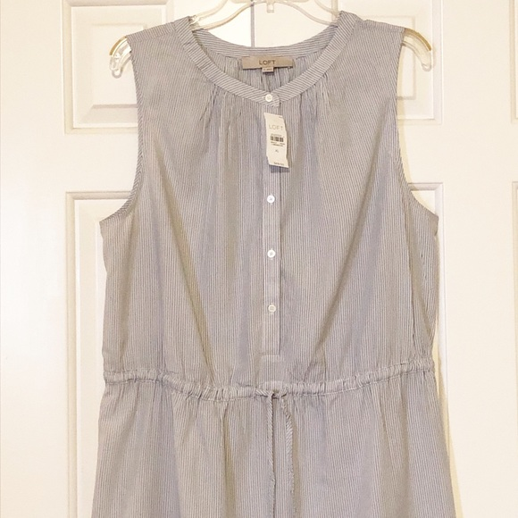 LOFT Dresses & Skirts - Ann Taylor LOFT striped sleeveless dress. NWT. XL.